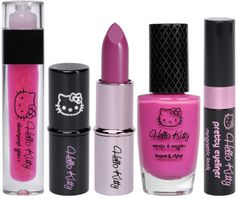 Hello Kitty cosmetics, we are never to old to be girly ;)