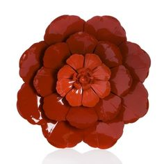 Metal Wall Art Flowers large 3d red poppy wall art, floral stem metal wall art *new