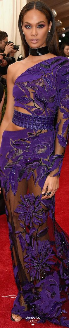 Joan Smalls in Roberto Cavalli | MET GALA | DRESS | FASHION | M E G H A N ♠ M A C K E N Z I E