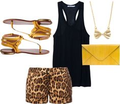 """""""Leopard and Yellow"""" by karrina-renee-krueger on Polyvore"""