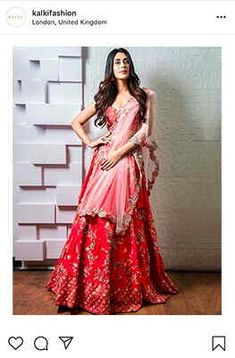 44907800cc38 Ruby red gown with a long head trail with pleated net border only on ...