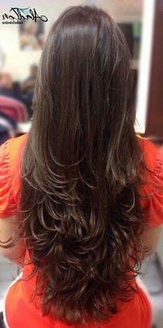 50 Ideas Haircut Ondulado Largo For 2019 Haircuts For Long Hair, Long Hair Cuts, Hairstyles Haircuts, Beautiful Long Hair, Gorgeous Hair, Medium Hair Styles, Curly Hair Styles, Long Hair Highlights, Long Layered Hair