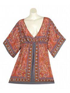 Plus Size Keen Kimono Tunic