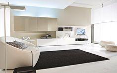 Bianco soggiorno Mobilgam