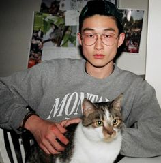 Sang Woo Kim and kitty