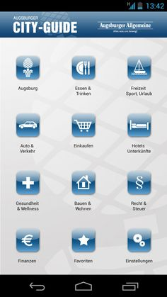 Augsburg App con CityApp Collection: Augsburger City Guide