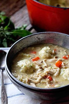 Chicken and Parmesan Herb Dumplings by insockmonkeyslippers #Chicken #Dumplings
