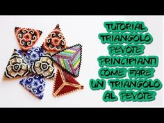 Tutorial Triangolo Peyote Principianti Come Unire le Due Parti di un Triangolo - YouTube