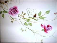 One Stroke Painting - Roses