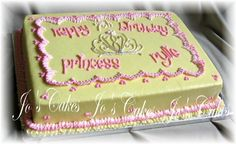 princess sheet cake - again, take off the tiara and its suitable for any lil girls party.