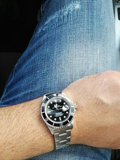 Today for me denim jeans and Rolex Submariner. Rolex Submariner, Breitling, Rolex Watches, Denim Jeans, Accessories
