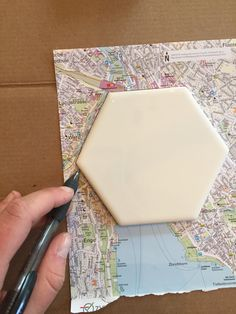 Coasters I made from maps that I collected during my semester of studying abroad in Europe - Imgur