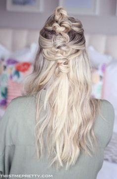 Bohemian Knotted Hairstyle with Extensions - Twist Me Pretty