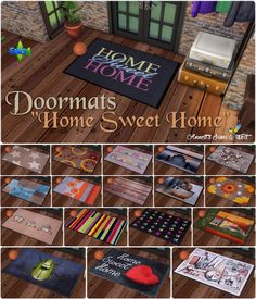 """Sims 4 CC's - The Best: Doormats """"Home Sweet Home"""" by Annett85"""