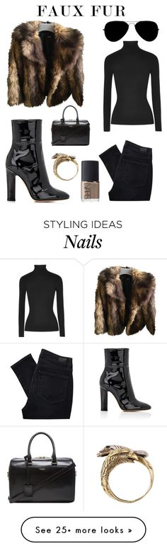 """""""Untitled #305"""" by lacywoods on Polyvore featuring ASOS, Michael Kors, Paige Denim, Yves Saint Laurent, Gianvito Rossi, NARS Cosmetics and Alkemie"""