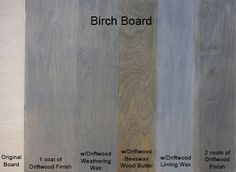 Driftwood Finish Sample, love this product!