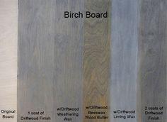 Driftwood Sample Board on Birch