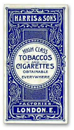 Layout and letters. Typographic poster design for Harris & Sons UK tobaccos & cigarettes, circa 1900 Vintage Packaging, Vintage Labels, Packaging Design, Vintage Branding, Vintage Graphic Design, Graphic Design Typography, Logo Design, Label Design, Vector Design