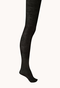 Cozy Ribbed Tights | FOREVER21 - 2000074085