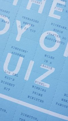 """""""Just back from the printers: my cover for The Joy of Quiz by Jacket is perforated into questions, answers on the other side"""" Zz Top, Joy, Names, Glee, Being Happy, Happiness"""