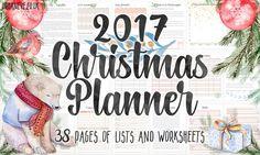 Printable Christmas Planner for 2017 [freebie]