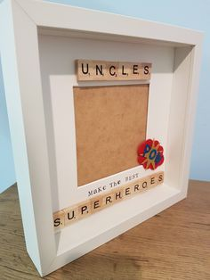 Uncle frame, uncles make the best superheroes, best uncle frame, brother gift, keepsake frame, superhero frame, box frame, scrabble by FrameitUnitedKingdom on Etsy