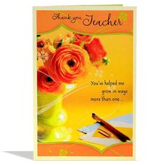 Greeting Cards For Teachers, Teacher Cards, Your Teacher, Help Me Grow, Teachers' Day, Card Sizes, Teaching, Collections, Shop