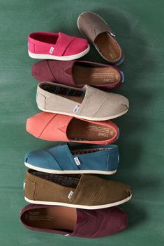 One of each please! Click to shop TOMS Slip-on shoes in a variety of colors.