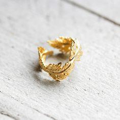 FEATHER 14k Ring  von koshikira auf DaWanda.com