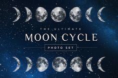 Moon Cycle Photoshop Set by skyboxcreative on @creativemarket