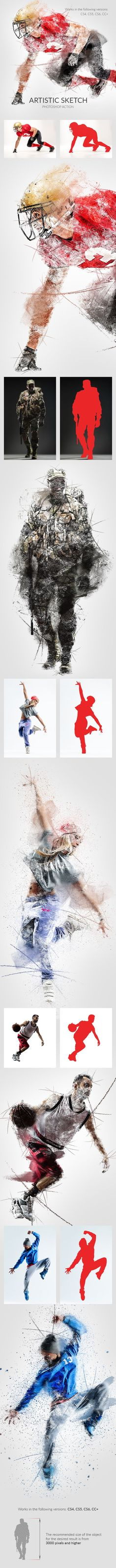 Artistic Sketch Photoshop Action - Photo Effects Actions