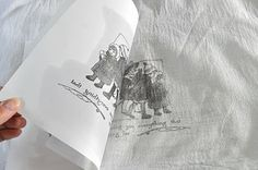 DIY tea towel tutorial {from little birdie secrets} transfer to fabric from toner print