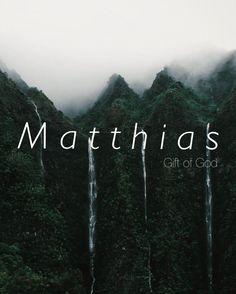 Matthias, biblical names, strong names, male names, baby boy names, boy names, uncommon names, names that start with M, M names.