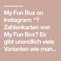 """My Fun Box on Instagram: """"🔢 Zahlenkarten von My Fun Box🔢  Es gibt unendlich viele Varianten wie man den Kindern die Zahlenwelt näher bringen kann☺️ Hier ein ganz…"""" Box, Instagram, Infinity, Numbers, Game, Studying, Children, Snare Drum, Boxes"""