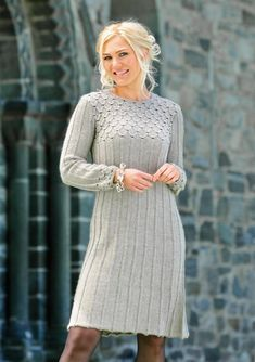 Ravelry: Kjole by Lene Holme Samsøe pattern by Lene Holme Samsøe Knit Skirt, Knit Dress, Dress Skirt, Sweater Knitting Patterns, Knitting Designs, Knit Fashion, Crochet Clothes, Pretty Outfits, Dress Patterns