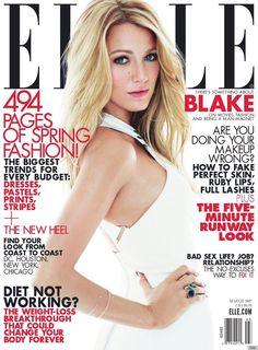 Blake Lively on the cover of ELLE magazine.