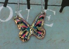 Multi Colors Butterfly Necklace by bojosmom on Etsy, $25.00