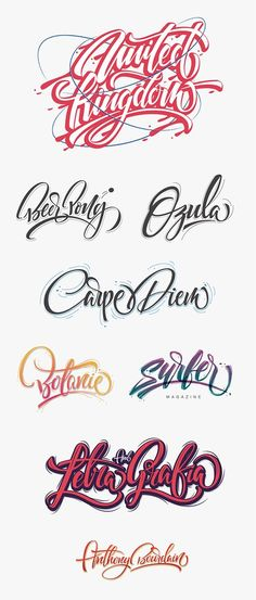 HERE ARE SOME LETTERING WORK DONE IN THE PAST 2014.Keep Typing