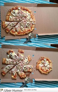 Pizza sharing..! (dad+6yo son)