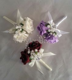 Wedding Bridal Double Pin On Corsage Buttonhole Pearls Gypsophila Various Colour in Home, Furniture & DIY, Wedding Supplies, Flowers, Petals & Garlands Bridal Brooch Bouquet, Diy Bouquet, Brooch Corsage, Wedding Pins, Diy Wedding, Wedding Flowers, Fall Wedding, Corsage And Boutonniere, Groom Boutonniere