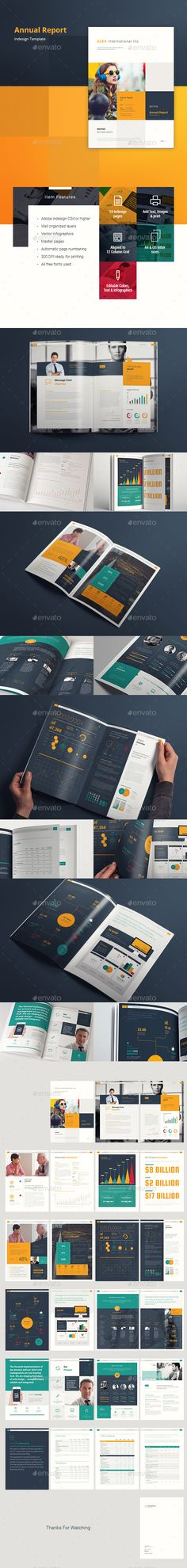 #ASER #Creative #Corporate #Modern #Professional #Annual #Report #Template - #Company #business #Brochures #Design. Download here: https://graphicriver.net/item/aser-annual-report/19869446?ref=yinkira
