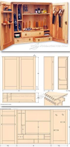 Tool Cupboard Plans - Workshop Solutions Plans, Tips and Tricks | WoodArchivist.com