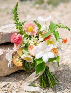 Green Wedding Shoes showcases a dreamy vintage Texas wedding. Wildflower Bridal Bouquets, Summer Wedding Bouquets, Diy Wedding Flowers, Wedding Flower Arrangements, Bridesmaid Flowers, Floral Wedding, Green Wedding, Wedding Ideas, Tiki Wedding