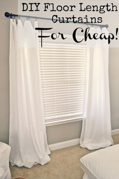 I made these lovely DIY floor length curtains for our living room out of tablecloths! I was annoyed that floor length curtains were so expensive so I decided to…