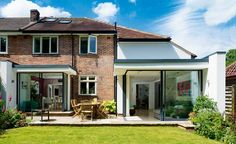 semi detached over garage extension upstairs wider than downstairs 1930s House Extension, Garage Extension, Glass Extension, House Extension Design, House Design, Extension Ideas, Extension Google, Side Extension, Council House Makeover