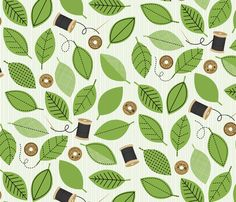 Thread Garden fabric by jenimp on Spoonflower