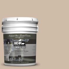 BEHR Premium Plus Ultra 5-gal. #pwl-83 Distant Tan Semi-Gloss Enamel Interior Paint