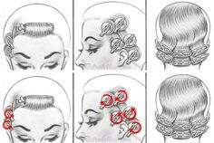 Pageboy curl setting pattern