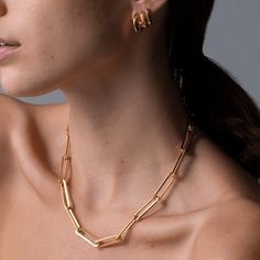 Stevie Chain Necklace Gold