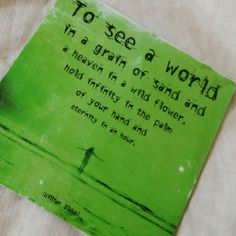 1990's Distressed Refrigerator Magnet Inspirational Quote by William Blake